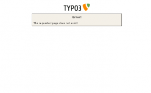 Vermeintliche TYPO3 Fehlerseite